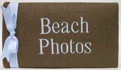 Espresso & Blue Linen Beach Photo Album