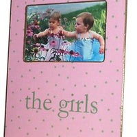 Tiny Celery Dots on Pink Picture Frame