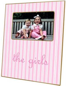Pink Stripe Picture Frame