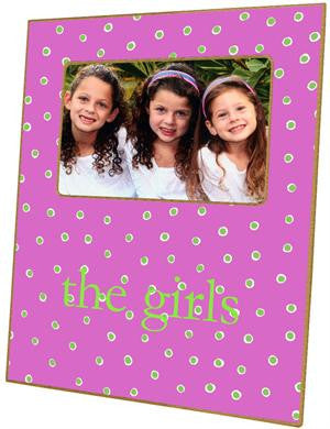Fuchsia & Lime Dots Picture Frame