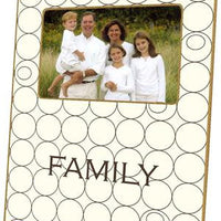 Creme & Brown Circles Picture Frame