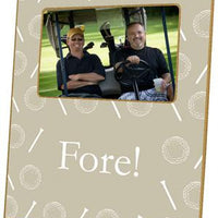 Golf on Tan Picture Frame