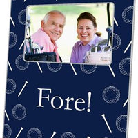Golf on Navy Picture Frame