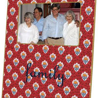 Provincial Print Red Picture Frame