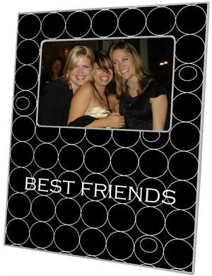 Black & White Circles Picture Frame