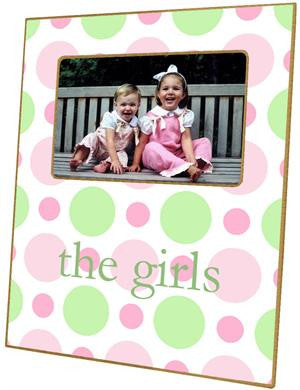 Pink & Green Bubble Gum Picture Frame