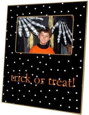 Halloween Dots on Black Picture Frame