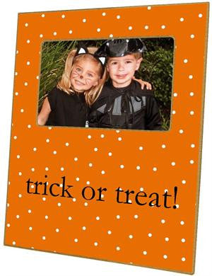 Halloween Dots on Orange Picture Frame