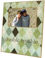 Green Argyle Picture Frame