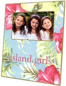 Hawaiian Floral Picture Frame