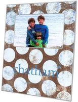 Distressed Blue Dots Picture Frame