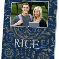 Navy Damask Picture Frame