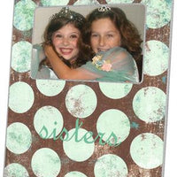Distressed Seafoam Dots Picture Frame