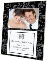 Black & Silver Damask with Inset Picture Frame