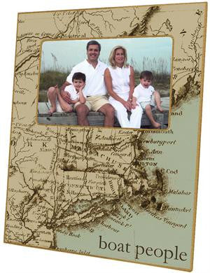 Antique Cape Cod Map Picture Frame