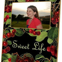 Cherries on Black Picture Frame