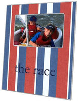 Cabana Stripe Red & Blue Picture Frame