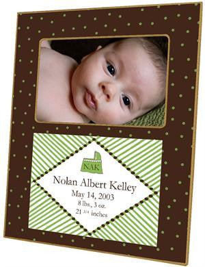 Brown & Green Dots Picture Frame