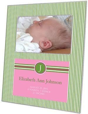 Sasha Watermelon Birth Announcement Picture Frame