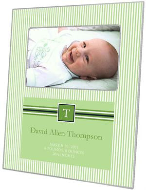Sasha Green Apple Birth Announcement Picture Frame