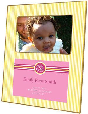 Sasha Lemon Birth Announcement Picture Frame