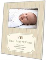 Avery Tan Birth Announcement Picture Frame