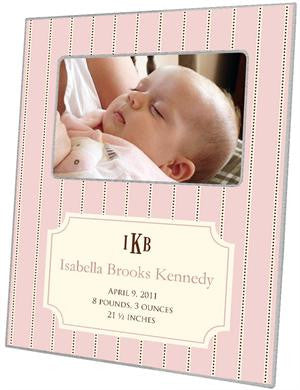 Avery Petal Birth Announcement Picture Frame