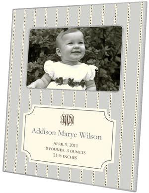 Avery Grey Birth Announcement Picture Frame