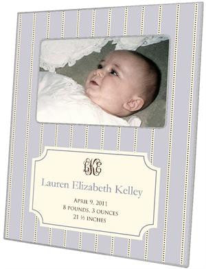 Avery Lilac Birth Announcement Picture Frame