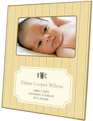 Avery Butter Birth Announcement Picture Frame
