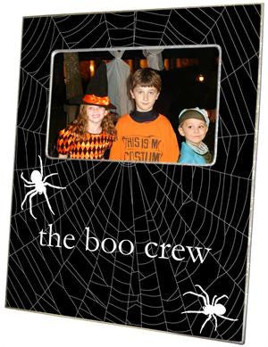 Halloween Spiderweb on Black Picture Frame