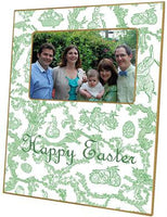 Easter Bunny Toile Green Picture Frame
