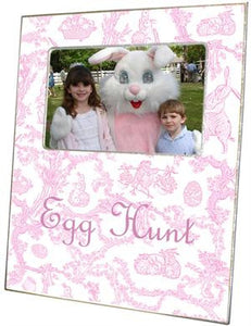 Easter Bunny Toile Pink Picture Frame