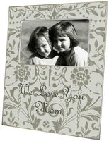 Pewter Damask Picture Frame