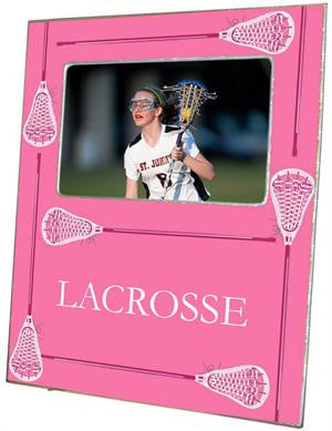 Lacrosse Sticks on Pink Picture Frame