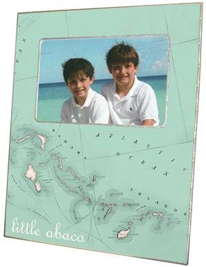 Bahamas Antique Map Picture Frame