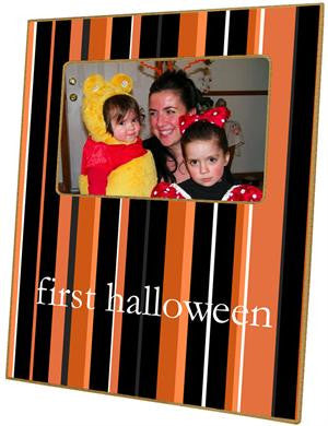 Halloween Stripes Picture Frame