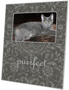 Grey Damask Picture Frame