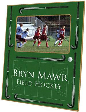 Field Hockey on Green Picture Frame