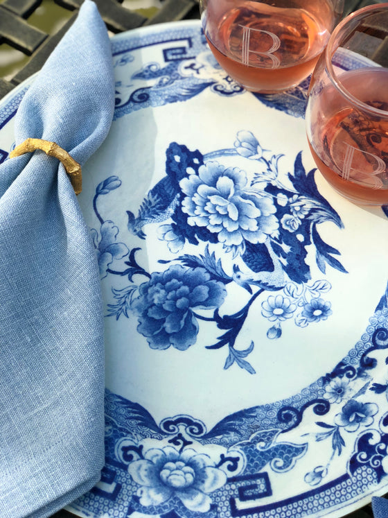 Blue and White Floral Placemat by Caspari