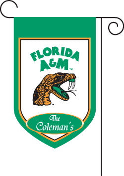 Monogrammed Florida A&M Garden Flag