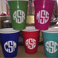 Monogrammed Party Cup