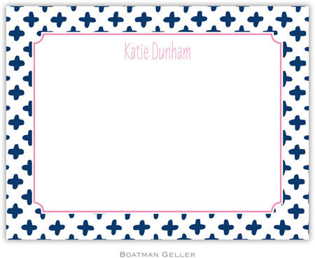 Flo Navy Flat Notecard