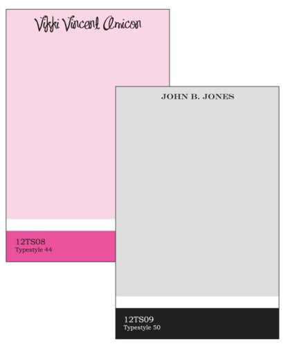 Personalized Formal Stripe Notepad Collection