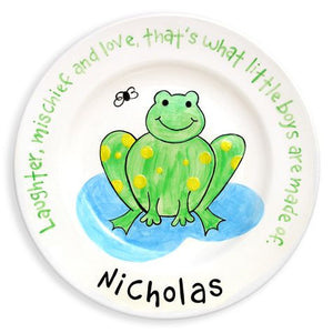 Personalized Frog Plate