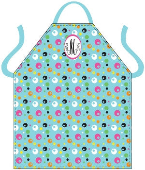 Monogrammed Funky Dots Apron