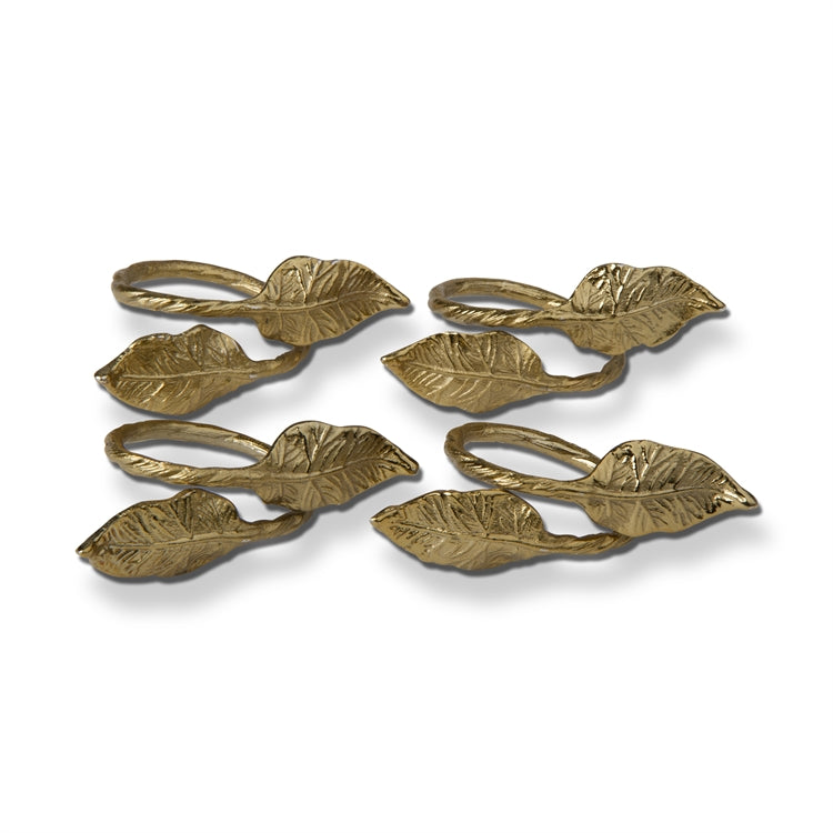 Leaf Napkin Rings/Set of 4