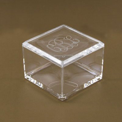Monogrammed Acrylic Square Box