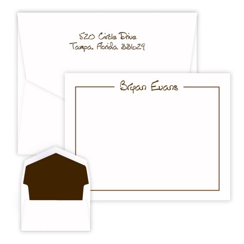 Glory - Raised Ink Flat Correspondence Card