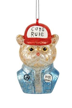 Cats Rule, Dogs Drool Ornament